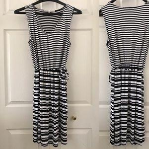 Rachel Roy Stripe Sleeveless Summer Dress Women XL